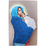 Religious Post Card Madonna / Blessed Mary / Baby Christ Spain
