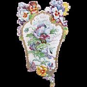 Victorian Easter Card Die Cut Perfect 1890 Longfellow Poem