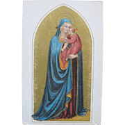 Religious Post Card of Blessed Mother Mary  Madonna and Baby Jesus
