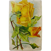 Post Card of Yellow Roses Flowers by Catherine Klein