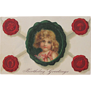 Post Card by Illustrator Frances Brundage Embossed Germany