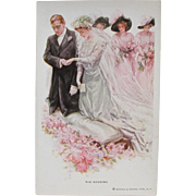 Wedding Post Card by Harrison Fisher Rare and Perfect