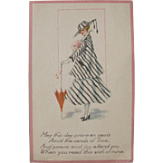 Post Card Art Nouveau Bold Fashion Post Card and Greeting