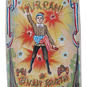 Post Card for Fourth of July Patriotic Post for Liberty 1908