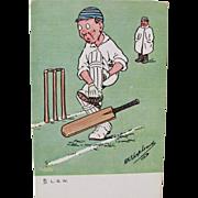 Post Card Series for Cricket Artist Signed Shepheard