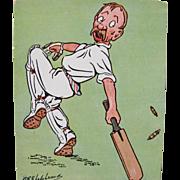 Post Card Series for Cricket Artist Signed G E Shepherd Umpire Series