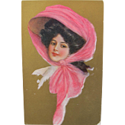 Art Nouveau Post Card of Glamour Lady