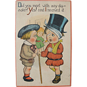 Unused Postcard Humorous on Love and Marriage 1910