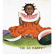 Black Americana Post Card Humorous Fun Great Condition.