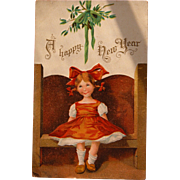 Christmas Postcard by Artist Ellen Clapsaddle Signed