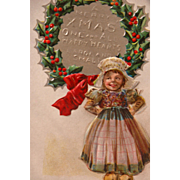 Christmas Postcard by Artist Maud Humphrey Christmas Nation Series