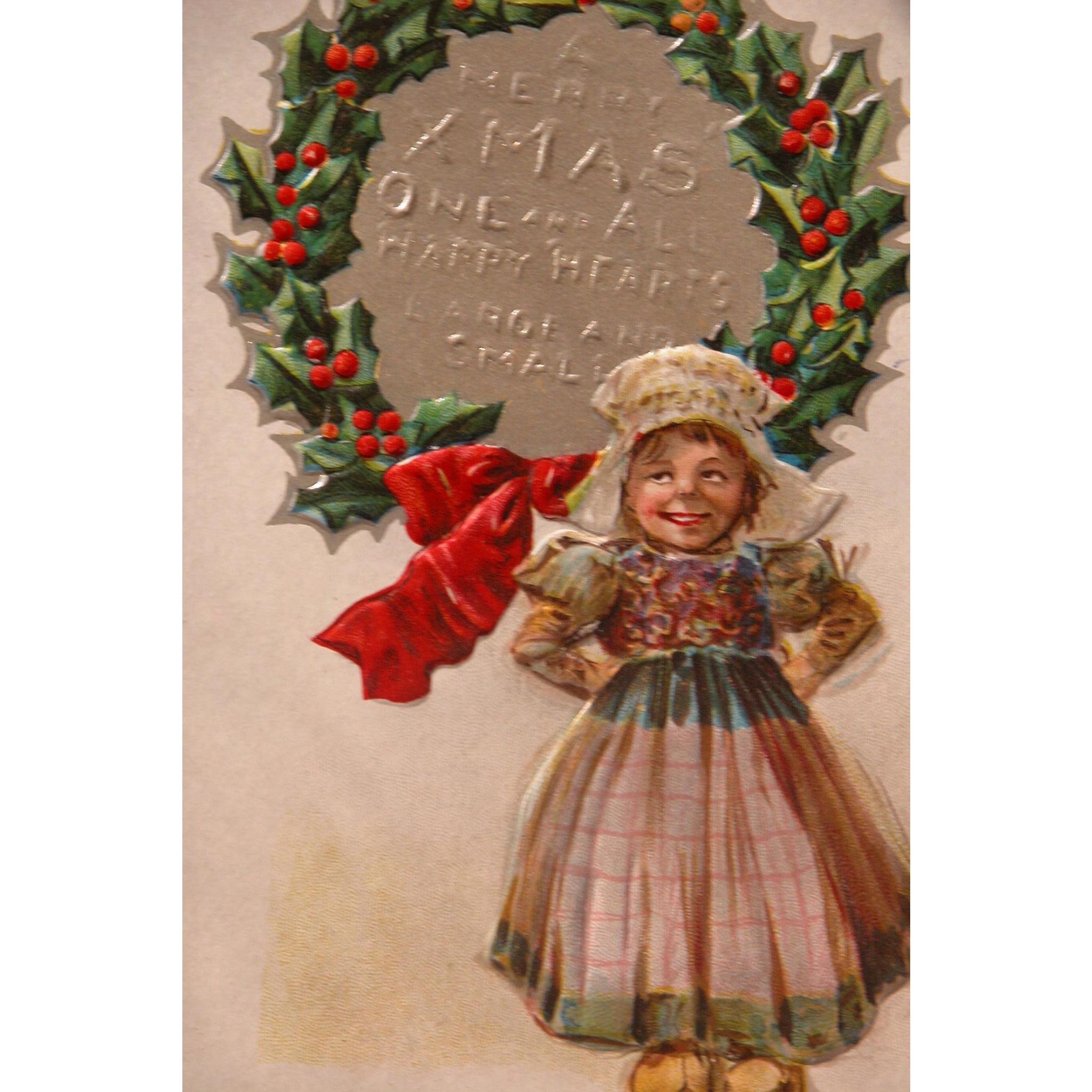 Christmas Postcard by Artist Maud Humphrey Christmas Nation Series