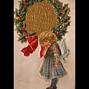 Christmas Postcard by Artist Maud Humphrey Christmas Nation Seriess