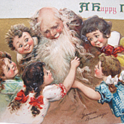 Frances Brundage Post Card for New Year's with Father Time 1911 Artist Signed