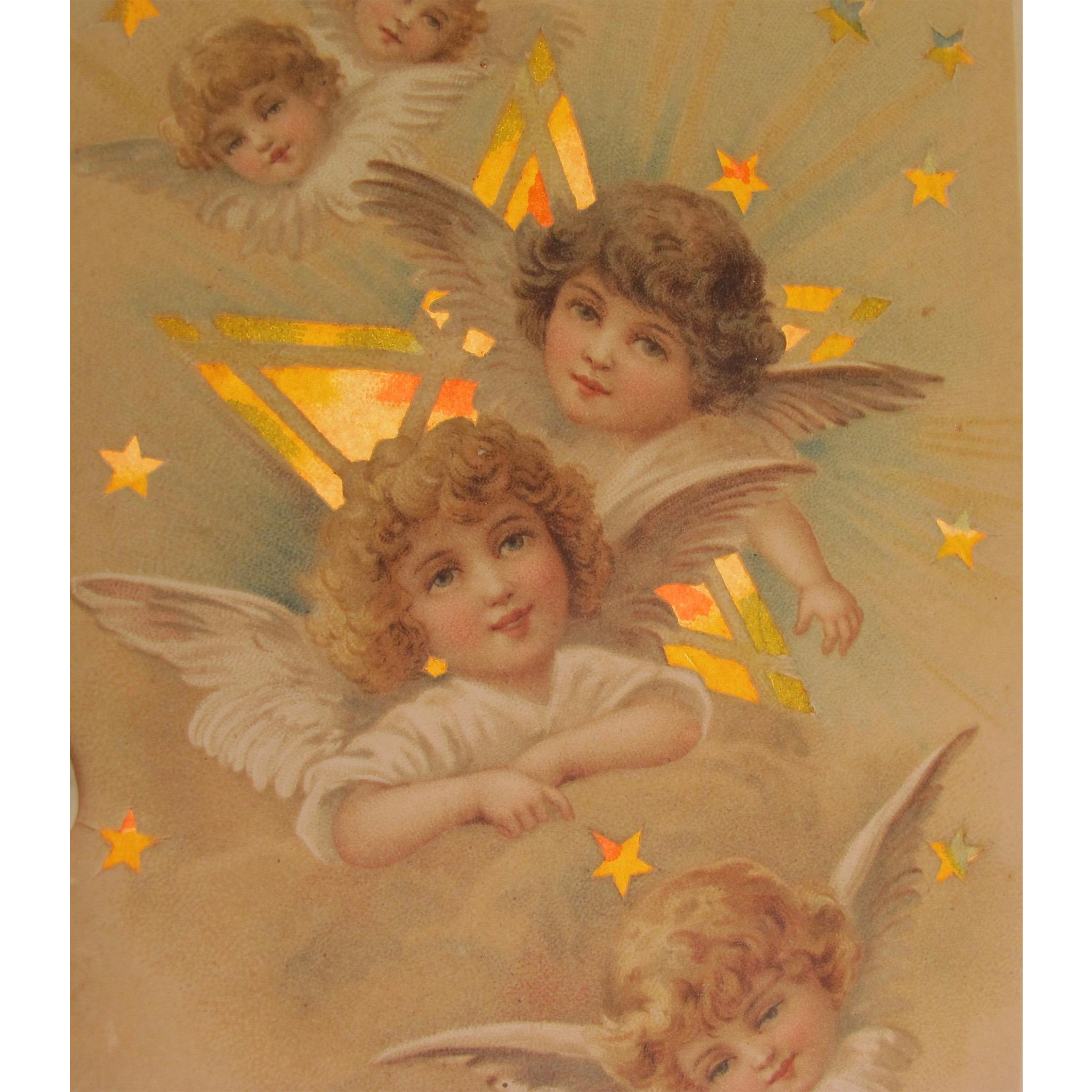 Hold to Light Post Card Angels by Frances Brundage Easter 1906