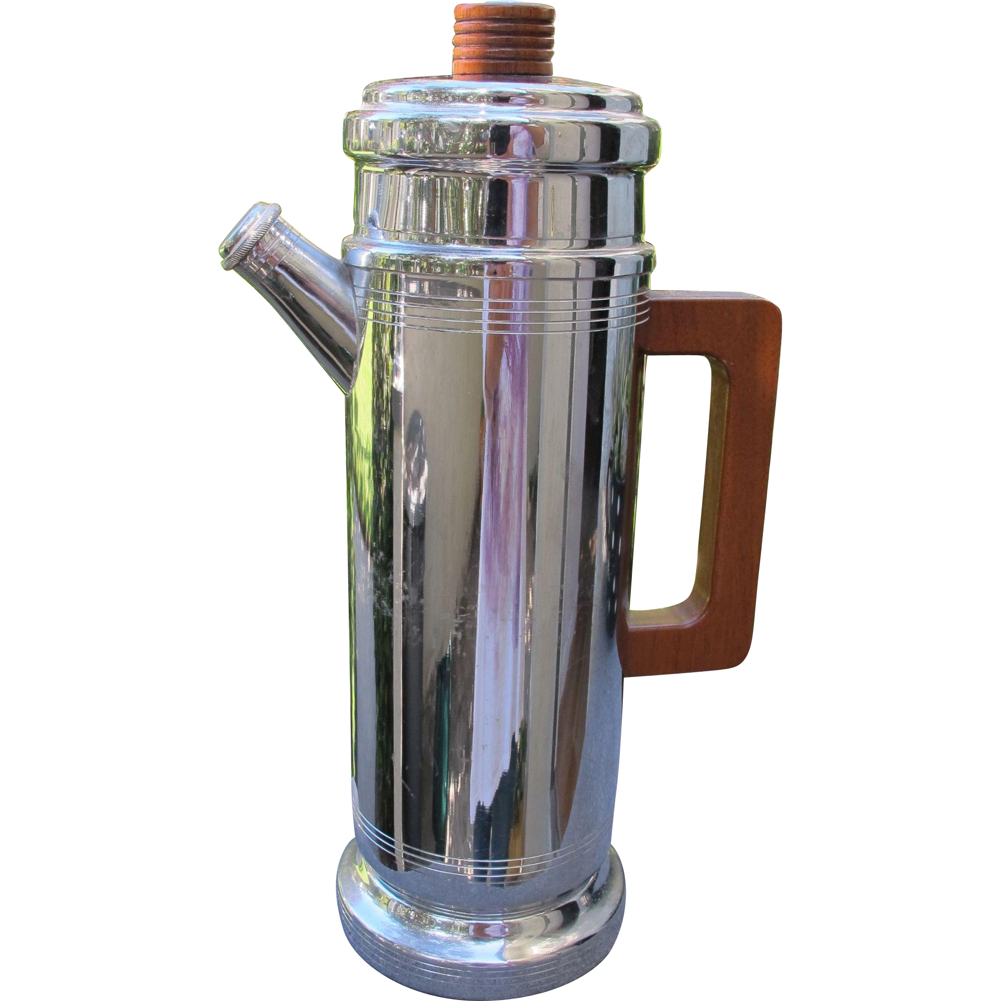 Deco Martini Shaker Chrome Resembles Coffee Pot