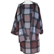 Jean Paul Gaultier Designer Wool Dress and Jacket Vintage Plaid with Provenance
