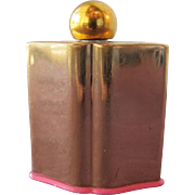 Coty Perfume Bottle Mini L'Aiment Brass with Label 1950's