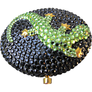 Estee Lauder Jeweled Compact Rhinestone Lizard Collectible
