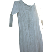 Victorian Era Gown White Pleated and Lace