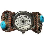 Navajo Jewelry Watch in Sterling Silver by Richard Begay