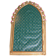 Jeweled Frame Mirror for Picture or Mirror Pink Glass Stones