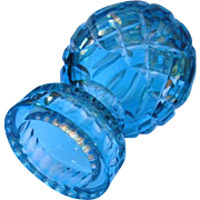 Waterford Lismore Egg Paperweight Crystal in Turquoise Color Marked
