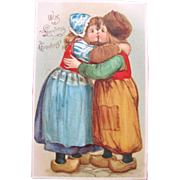 Valentines Day Post Card by Frances Brundage 1907 With Loving Greetings by Tuck