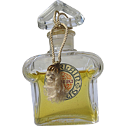 "Guerlain Perfume Bottle with Label and Hanging Tag and Liquid ""Mitsouko"""