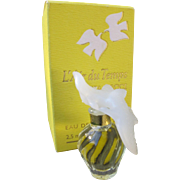 Mini Perfume Bottle Nina Ricci Designed by Lalique in Box with Perfume L'Air Du Temps