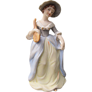 Perfume Lamp with Hand Painted Colonial Girl by Irice Made in Japan