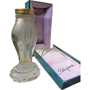 Perfume Bottle Zut by Schiaparelli Large Size in Plush Box 1940s