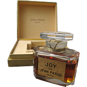 Joy by Jean Patou Boxed Perfume Bottle Sealed Unused Baccarat Crystal Round Logo