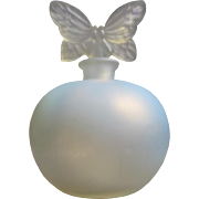 French Opalescent Perfume Bottle Made in France  Chamart with Butterfly Stopper Perfect