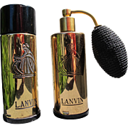 Perfume Bottles by Lanvin 1950's My Sin and Arpege Two Bottles Atomizer