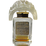 Coty Perfume Bottle with Tiara Stopper Complice de Francois of Paris France