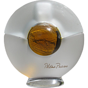Vintage Perfume Bottle by Palomo Picasso 1980's Frosted Glass Perfume