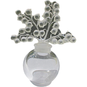 Lalique Perfume Bottle Signed Lily of the Valley Flowers Perfect Clairefontaine