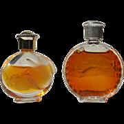 Lalique Small Perfume Bottle and Nina Ricci Mini Perfume