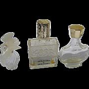 Lalique Mini Perfume Bottles Nina Ricci Molinard Empty