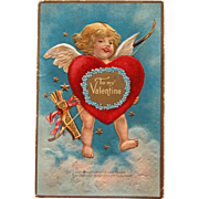 Valentine's Day Postcard w/ Cherub by Winsche