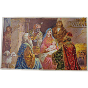 Christmas Postcard of Three Kings Blessed Mother Baby Jesus Germany