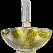 Oscar de La Renta Perfume Bottle All Glass Ruffles 1983 Factice
