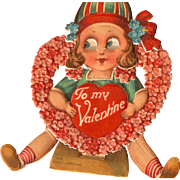 Mechanical Valentines Day Card with by Twelvetrees Made in Germany