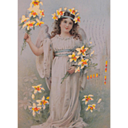 Hold to Light Easter Postcard Illustrator Frances Brundage 1908