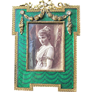 Enamel Frame for Picture Ornate French Look 1980's