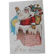 Santa Claus Post Card Kris Kringle Art by Ellen Clapsaddle Tuck Publisher