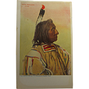 Post Card of American Indian Chief Red Cloud 1904