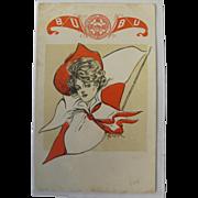 Boston University Post Card 1905 Unused Artist Signed Rare