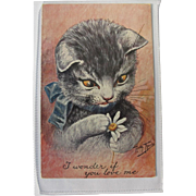 Thiele Cat Post Card in Excellent Condition